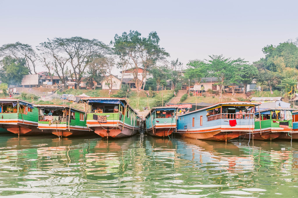 Boats in Pakbeng